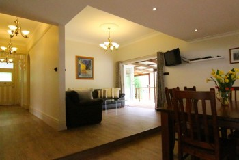Pepper Tree's open plan living and dining space...