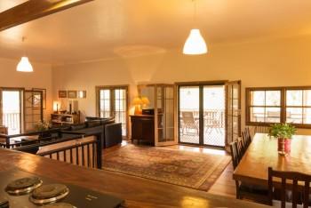 The farms spacious open plan living area...